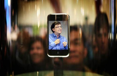 Iphone Savior Angry Bill Gates Is Captured By Iphone